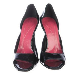 Kate Spade New York Patent Leather Peep-Toe 7.5